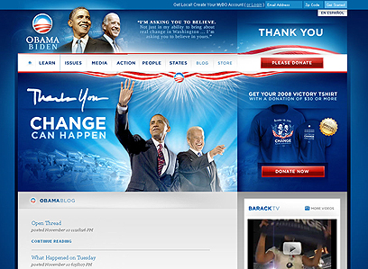Obama's site