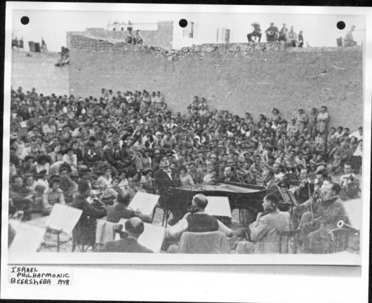 Bernstein plays for Israeli troops.